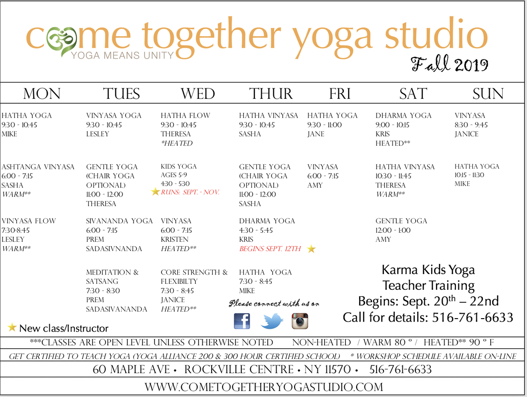 photo relating to Printable Schedule named Printable Agenda - Appear With each other Yoga Studio
